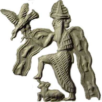 Enki isolated figure from tablet