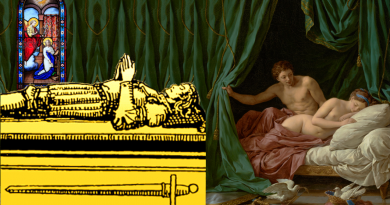 Venus and Four of Swords collage