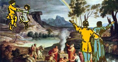 collage Noahs Thank Offering - Joseph Anton Koch 1803