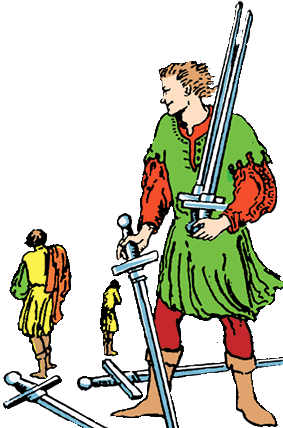 Five of Swords isolated characters