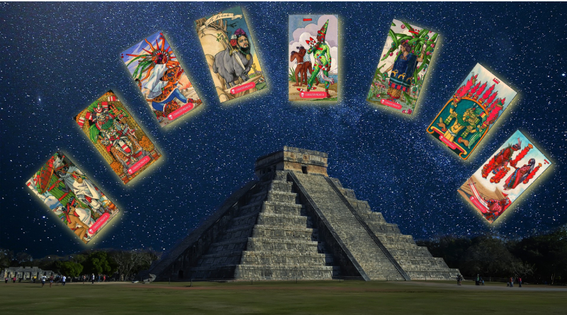 Chicome Itzquintli Amatlapalli Mexica Tarot project collage