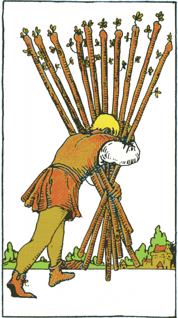 Ten of Wands Isolated Figure