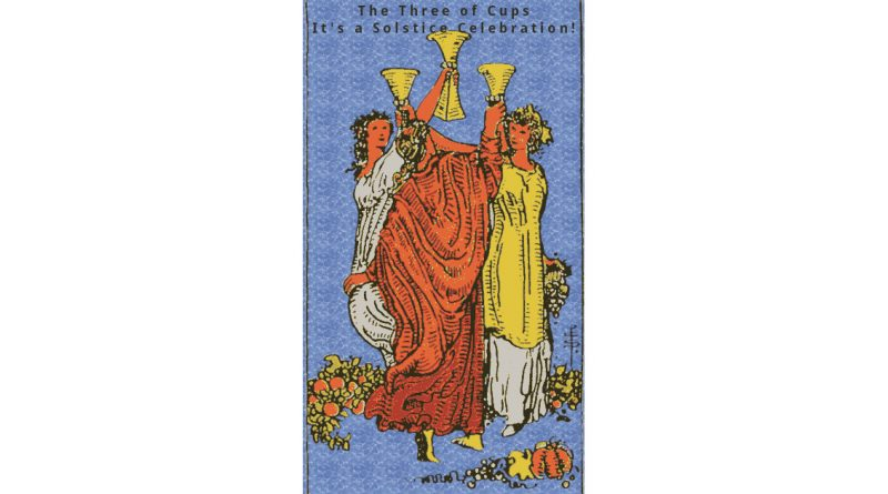Three of Cups Tarotgram Featured Image