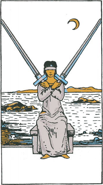 Two of Swords isolated figure