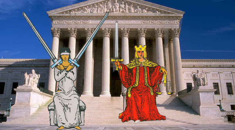 Collage Two Swords Justice Supreme Court