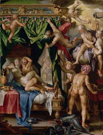 Joachim Wtewael Mars and Venus Surprised by the Gods 1605