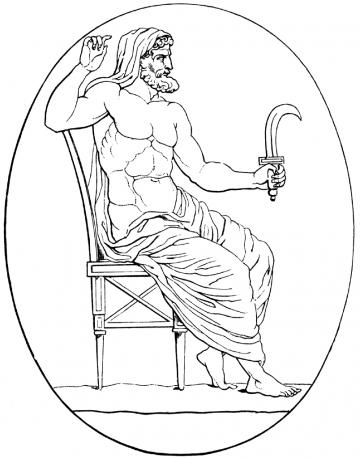 Saturn with scythe
