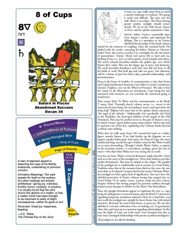 The Eight of Cups: A One Page Guide, series 2