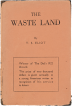 The Wasteland first edition